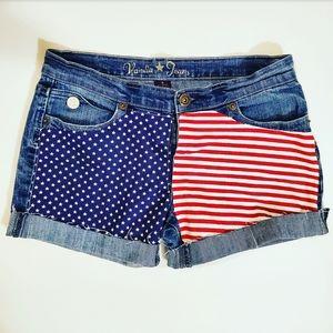 Vanilla Star Jean's American Flag Shorts Size: 9